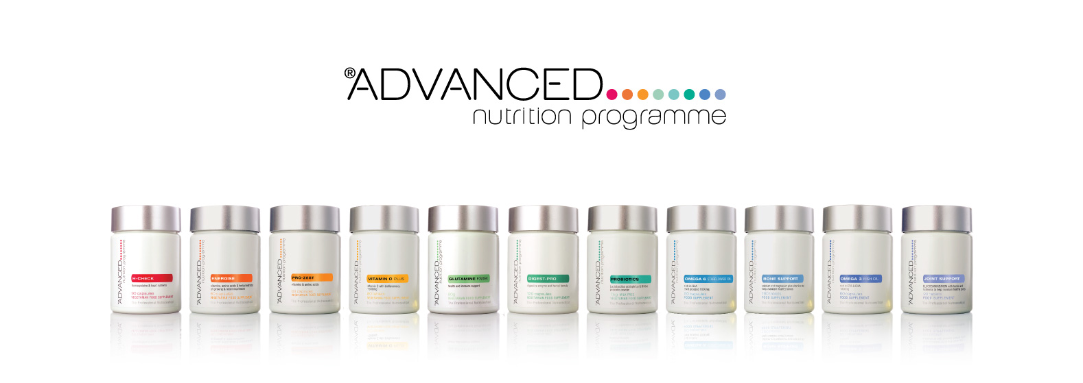 ANP logo & vitamin supplement pots
