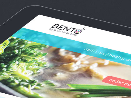 Bento Takeaway website on tablet