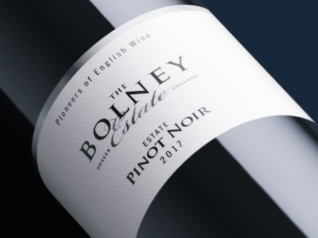 Bolney Wine Estate Pinot Noir label