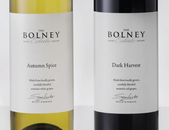 Bolney Wine Labels - white & red wines