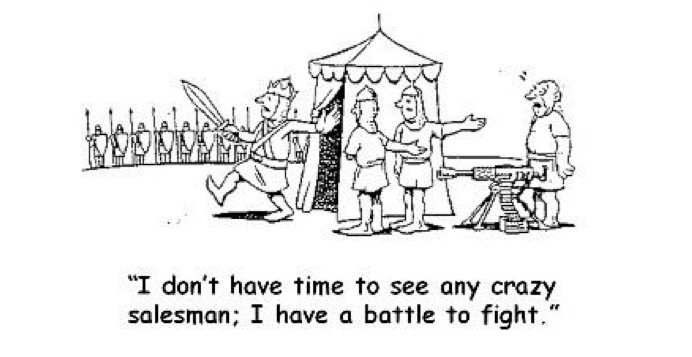 Crazy Salesman cartoon