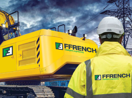 Ffrench heavy machinery with caterpillar tracks