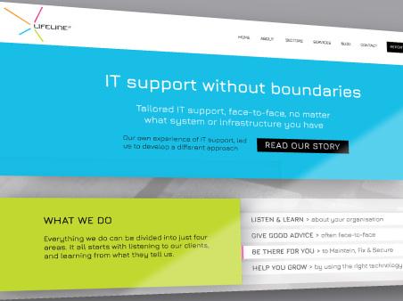 Lifeline IT website page