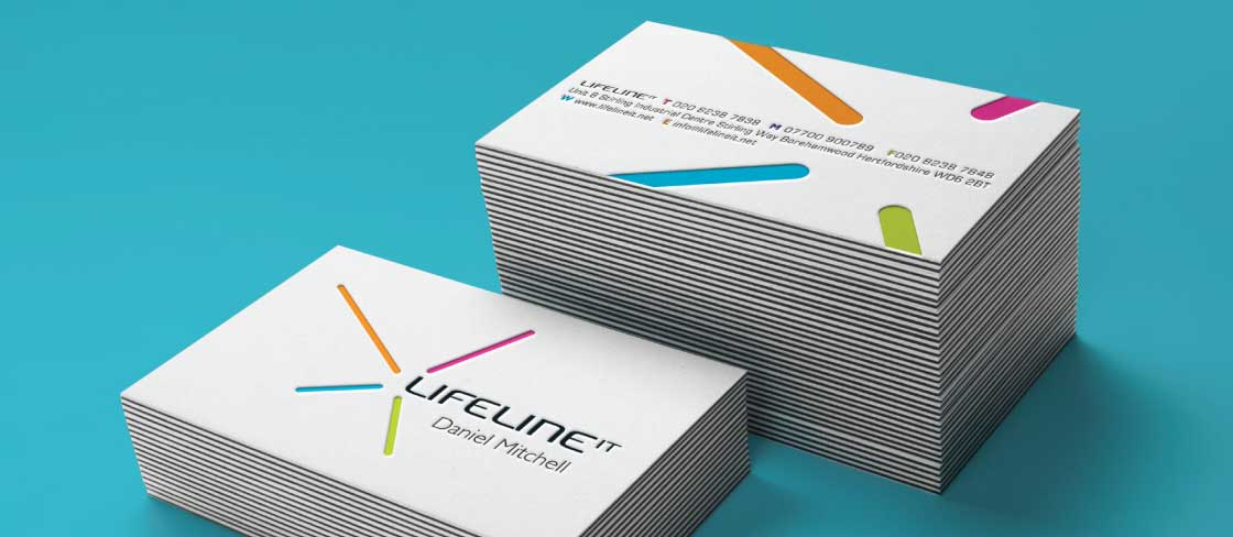 Lifeline IT Business Cards- front & back