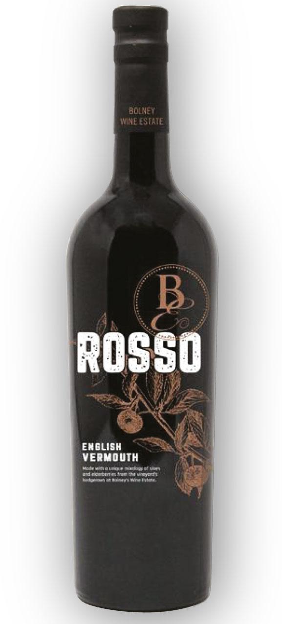 Bolney Rosso Vermouth bottle design