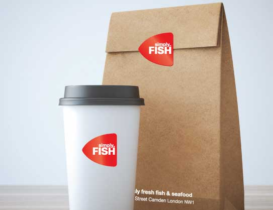 Simply Fish restaurant - takeaway packaging