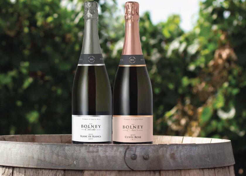 Bolney Wine Estate Sparkling Wines label design